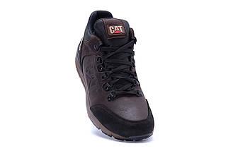 Мужские зимние кожаные ботинки в стиле CATERPILLAR Chocolate, фото 2