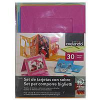 Набор открыток с конвертами 24 в1 Crelando 929 (289011)