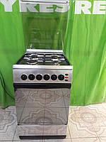 Газовая плита Ardo  5060 нержавеющей  стали,поджигом,крышка калёным стеклом,духовка  газовая с грилем и вертел