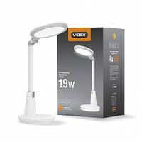 LED лампа настольная VIDEX VL-TF10W 19W 4100K 220V, фото 1