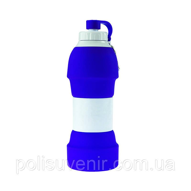 Складна силіконова пляшка для води TEMPO 580 мл