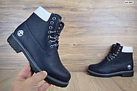 Женские зимние ботинки в стиле Timberland темно-синие, фото 1