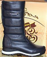 Сапоги женские кожаные зимние, дутики от производителя модель КЛ222-3