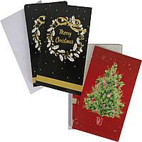 Набор новогодних открыток с конвертами 10шт Melinera (6981)