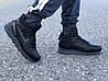 Мужские зимние кроссовки Nike Air Span ll черные реплика, фото 4