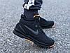 Мужские зимние кроссовки Nike Air Span ll черные реплика, фото 6