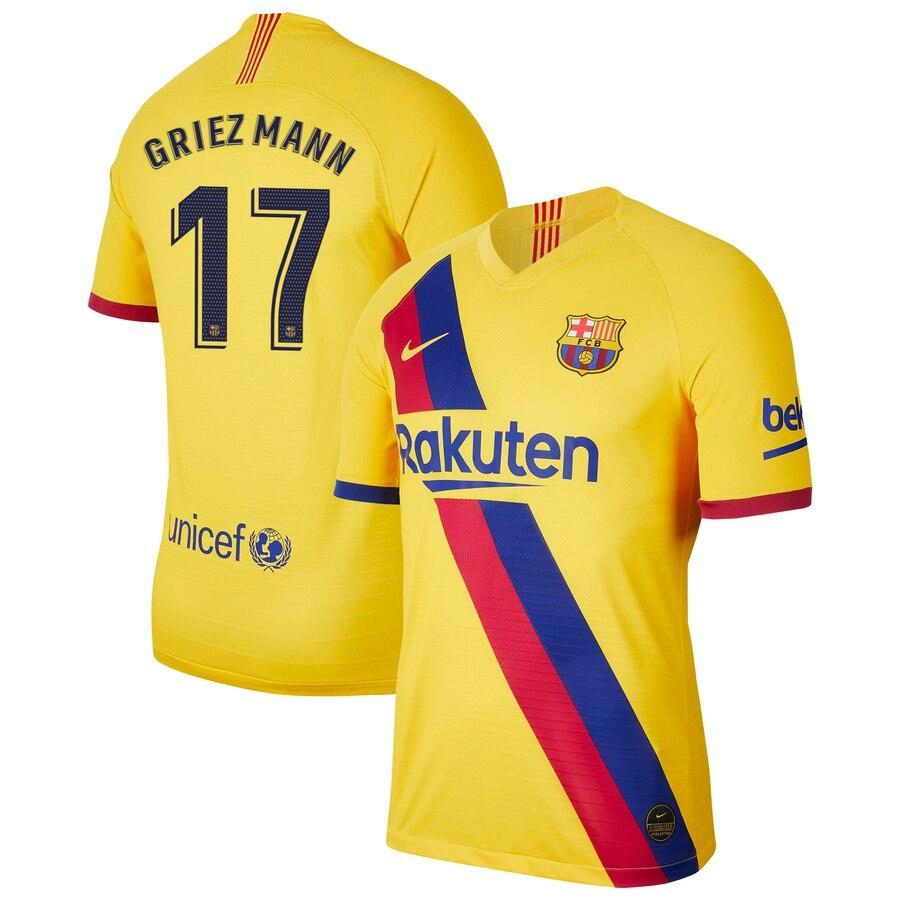 Футбольная форма Барселона GRIEZMANN  17   сезон 2019-2020 запасная желтая