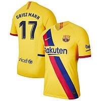 Футбольная форма Барселона GRIEZMANN  17   сезон 2019-2020 запасная желтая, фото 1