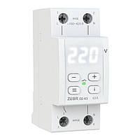 Реле напряжения ZUBR D2-63, 1ф, 63А, 2мод, вольтметр, термозащита