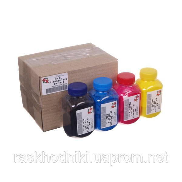 Набор тонера АНК для HP CLJ CP1215/CP1515/CM1312 бутль B/C/M/Y  Black 55г, Color 40г