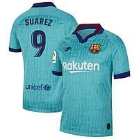 Футбольная форма Барселона SUAREZ 9 сезон 2019-2020 резервная бирюзовая