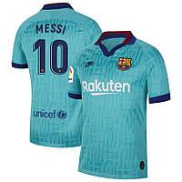 Футбольная форма Барселона  MESSI 10 сезон 2019-2020 резервная бирюзовая