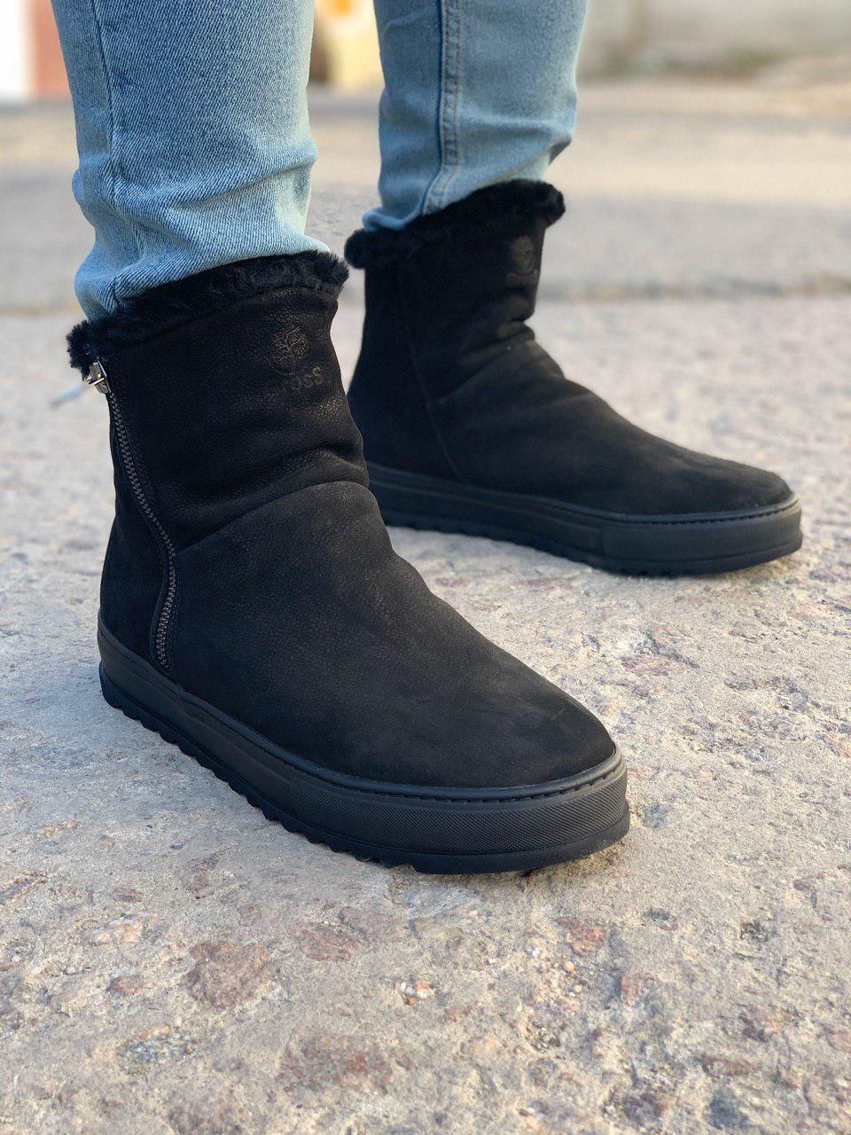 Мужские зимние ботинки черные Gross Toronto