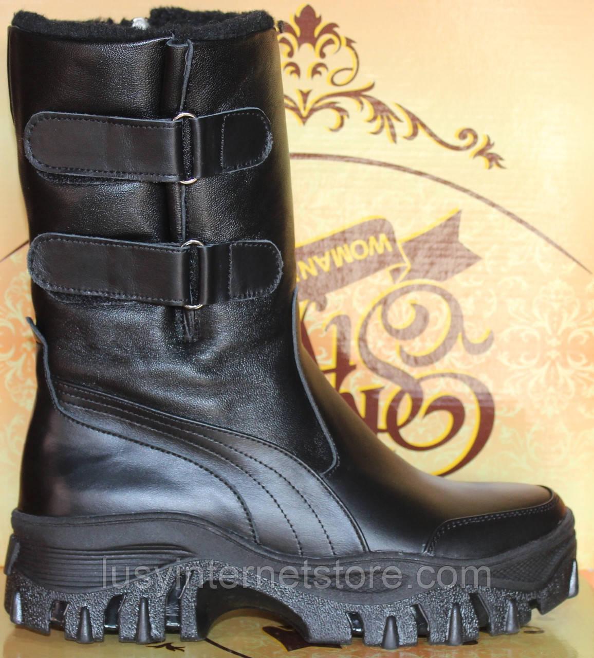 Сапоги женские кожаные зимние  от производителя модель КЛ224
