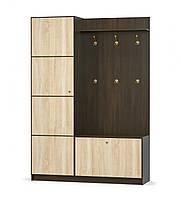Прихожая 150 Фантазия венге темный + дуб самоа Мебель Сервис (150.4х43.9х216 см), фото 1