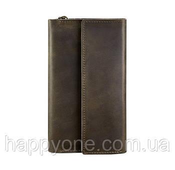 Кожаный клатч-органайзер (тревел-кейс) 5.1 (темно-коричневый)