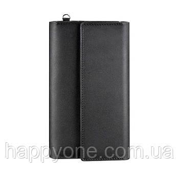 Кожаный клатч-органайзер (тревел-кейс) 5.1 (черный)