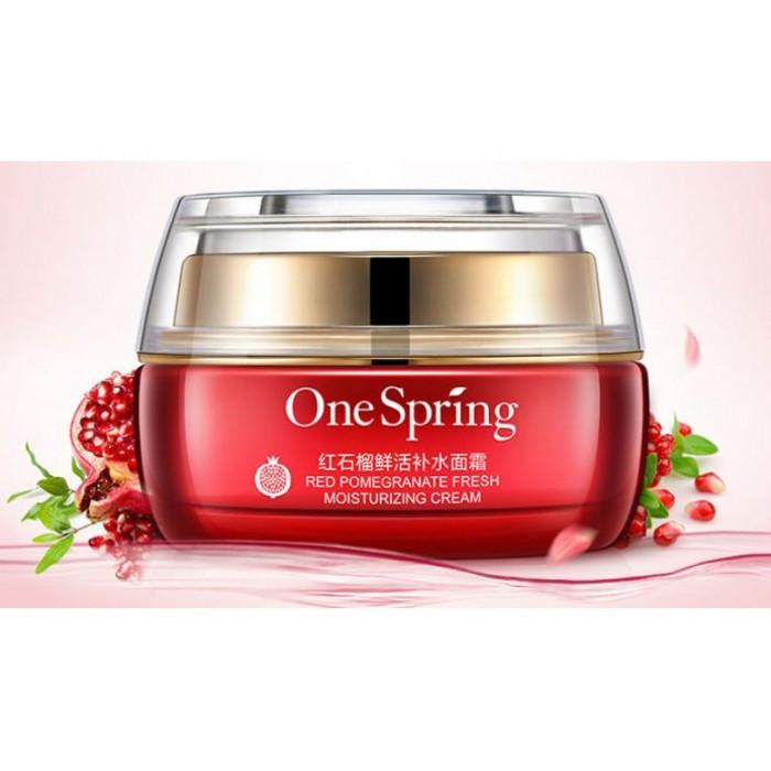 Крем для лица с экстрактом красного граната и гиалуроновой кислотой One Spring, 50г