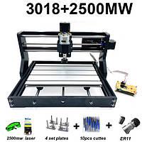 Гравер CNC 3018 PRO фрезер ЧПУ станок + лазер 2500 мВт