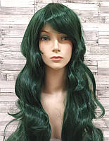 Парик женский зеленый волнистый аниме карнавальный косплей cosplay