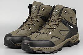 Ботинки мужские мех хаки Bona 729B-6 Бона Размеры 44 46