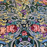 Кружевной 951-10, павлопосадский платок (шаль, крепдешин) шелковый с шелковой бахромой, фото 4