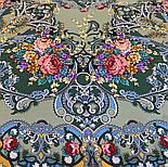 Кружевной 951-10, павлопосадский платок (шаль, крепдешин) шелковый с шелковой бахромой, фото 6