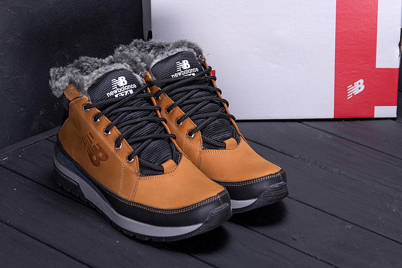 Мужские зимние кожаные ботинки в стиле New Balance Fox