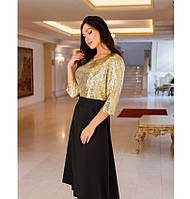 Яркое, блистательное и очень стильное платье №743Н-золото, фото 1