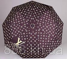 Брендовый складной зонт полуавтомат Louis Vuitton