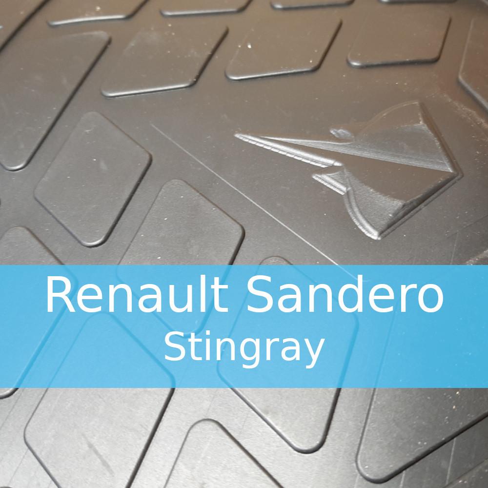 Резиновые коврики в автомобиль Renault Sandero (Stingray)