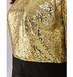 Яркое, блистательное и очень стильное платье №743Н-золото, фото 4