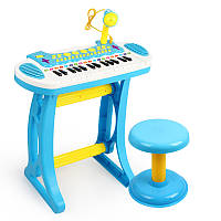 Детский синтезатор с микрофоном и стульчиком (3132C) 3 цвета 12-17