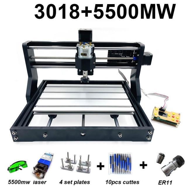 Гравер CNC 3018 PRO фрезер ЧПУ станок + лазер 5500 мВт