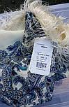 Оберег 1638-4, павлопосадский платок шерстяной  с шелковой бахромой, фото 6
