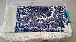 Оберег 1638-4, павлопосадский платок шерстяной  с шелковой бахромой, фото 7