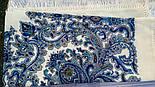 Оберег 1638-4, павлопосадский платок шерстяной  с шелковой бахромой, фото 9
