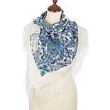 Оберег 1638-4, павлопосадский платок шерстяной  с шелковой бахромой, фото 2