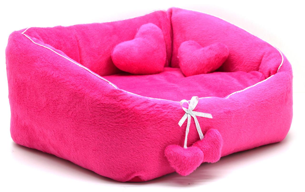 Лежак для котов и собак Нежность №3 500х690х230 розовый