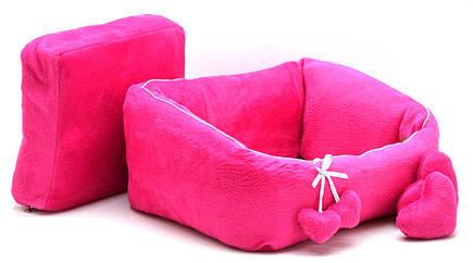 Лежак для котов и собак Нежность №3 500х690х230 розовый, фото 2