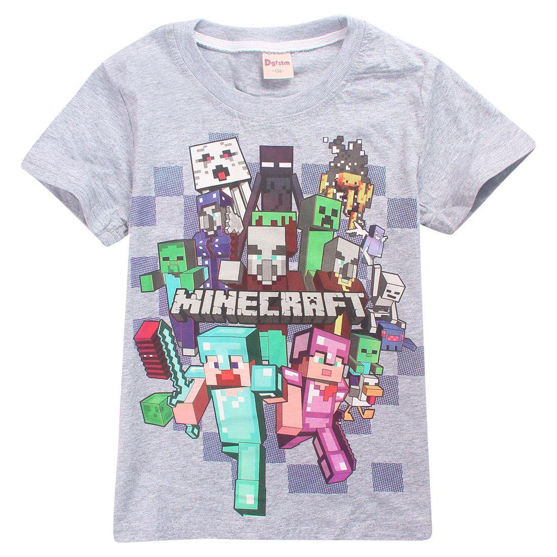 Футболка Minecraft Всі Герої - Вперед! сіра