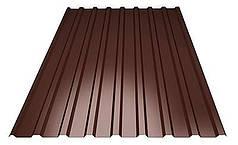 Профнастил покрівельний ПК-20 шоколадний товщина 0,45 розмір 1,5Х1,16м