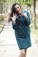 """Зеленое пальто из кашемировой ткани """"Леон"""""""
