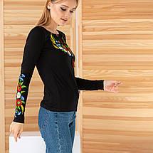 Жіноча трикотажна вишиванка «Колосок», фото 2