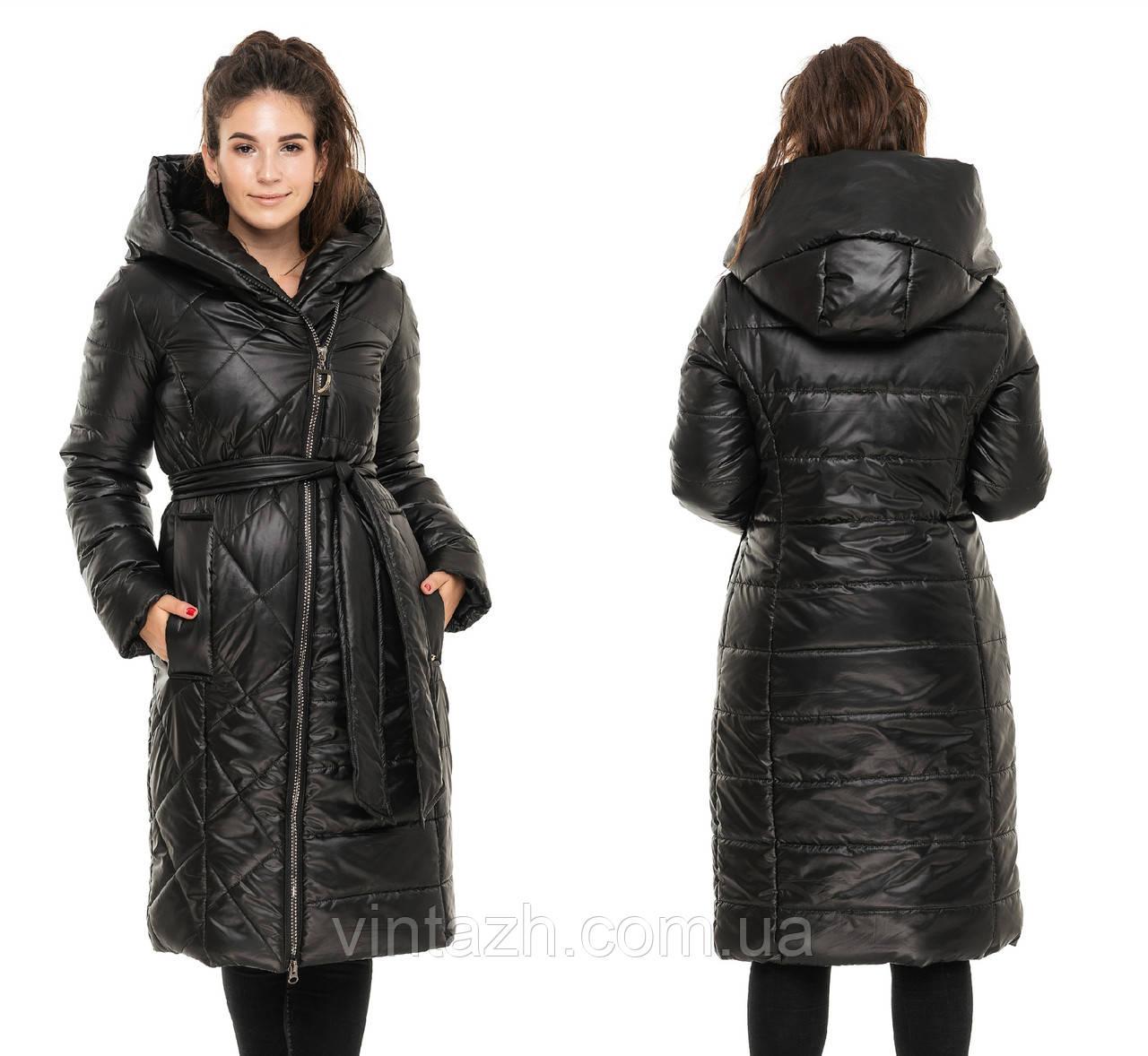 Женская зимняя куртка полупальто