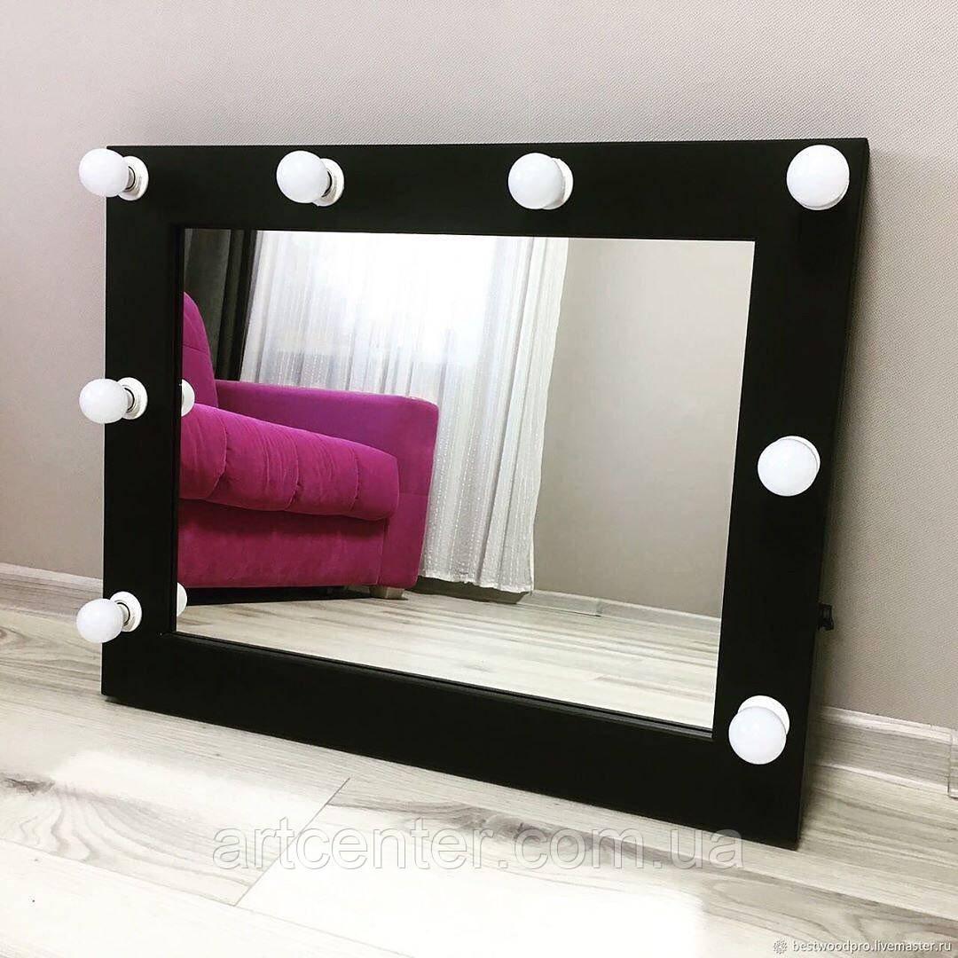 Настольное зеркало для макияжа с подсветкой (из ЛДСП)