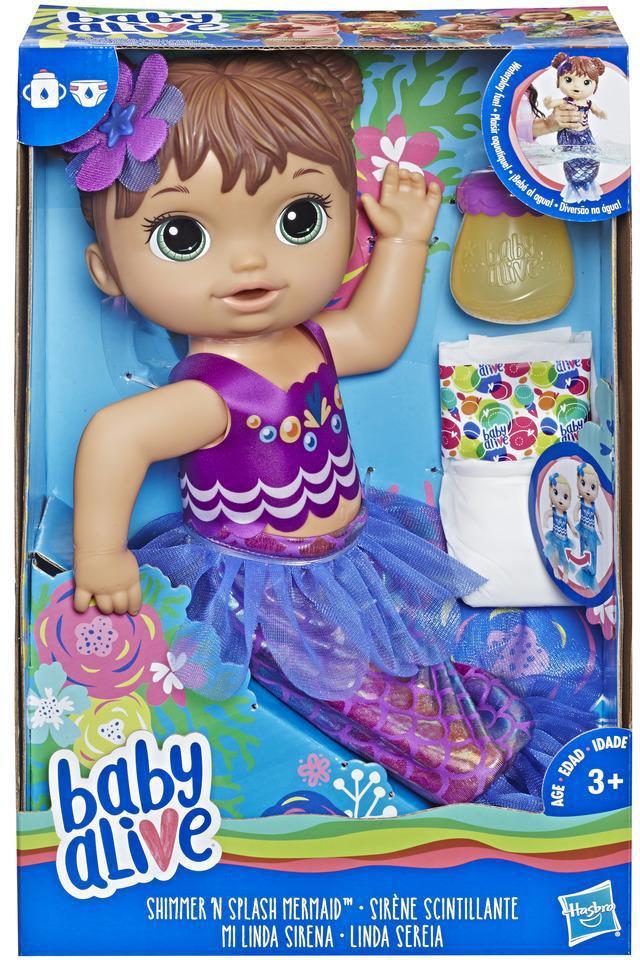 Кукла Hasbro Baby Alive Беби Элайв-Мерцающая Русалка-E3691