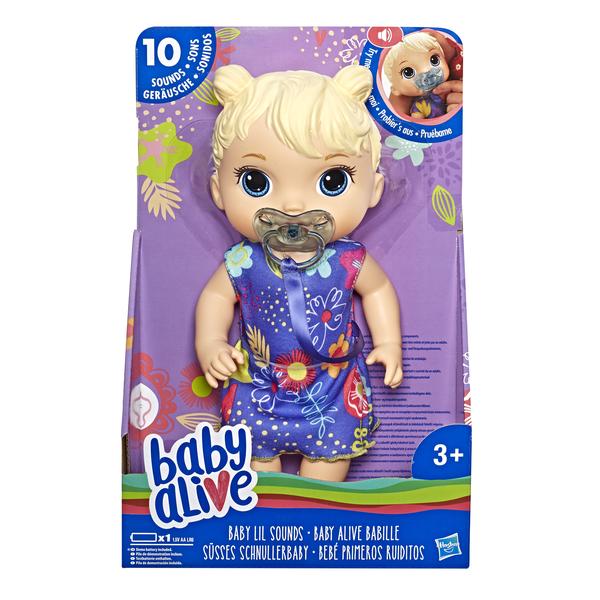 Кукла Hasbro Baby Alive Беби Элайв-Игрушка интерактивная Малышка Лил блондинка со звуками-E3690