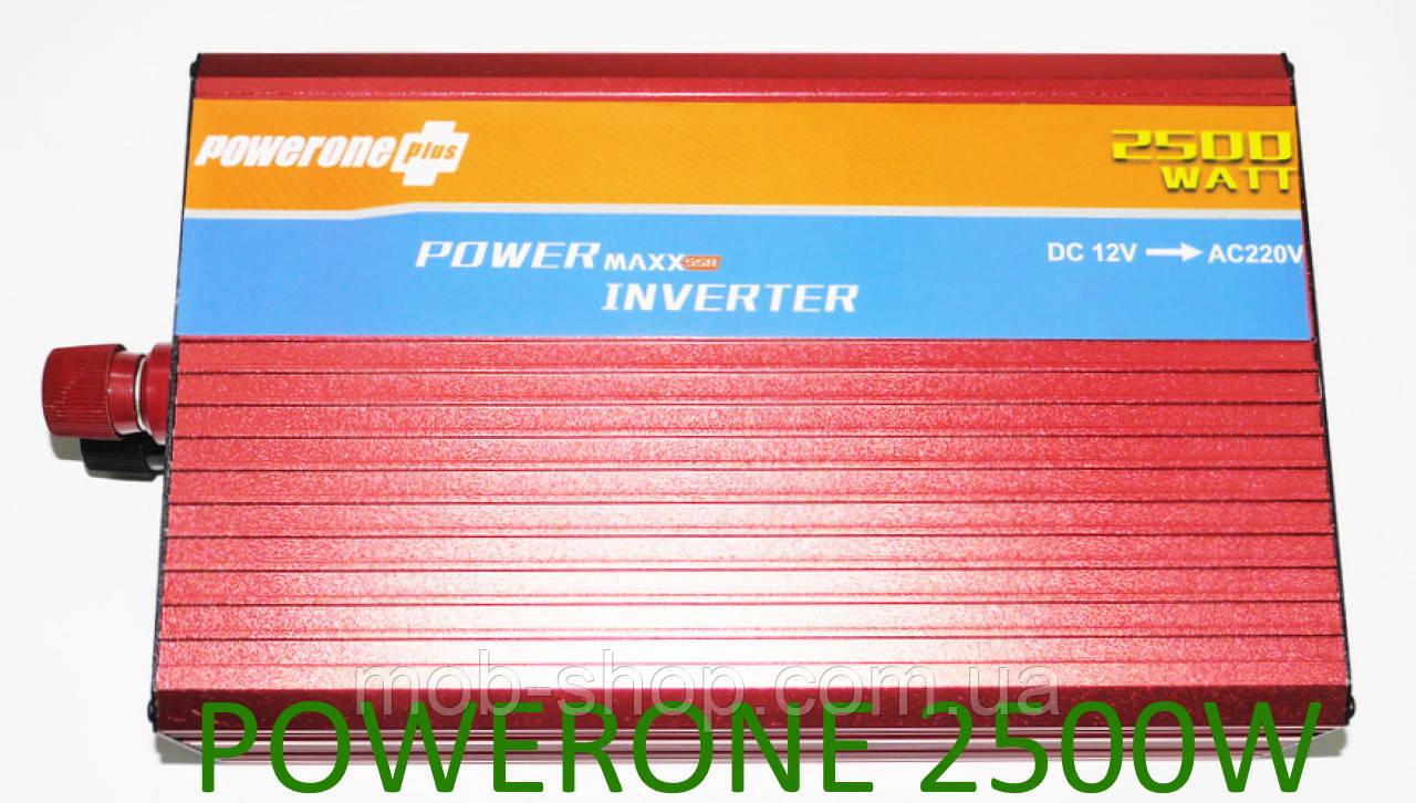 Инвертор Power Inverter Powerone 2500W 12V в 220V с функцией плавного пуска