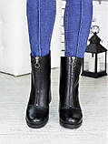 Женские демисезонные ботинки из натуральной кожи, фото 3
